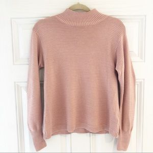 Topshop Mock Neck Sweater Pink Size 2